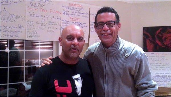 Gerry with Satyen Raja